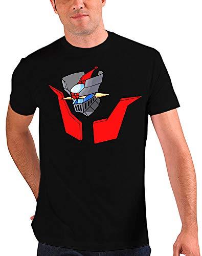 Camiseta Mazinger z (Talla: Talla L Unisex Ancho/Largo [56cm/74cm] Aprox, Color: Negro)