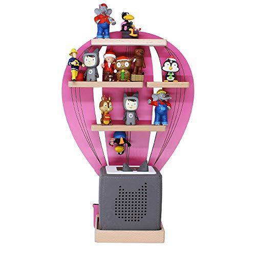 BOARTI Kinder Regal Heißluftballon in Pink, Wandregal geeignet für die Toniebox und ca. 23 Tonies - zum Spielen und Sammeln