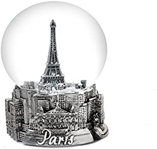 Zizo Paris France Eiffel Tower Snow Globe 65mm