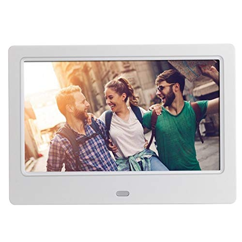 YINGJUN-DRESS WiFi Digitaler Fotorahmen 7 Zoll HD Digital Photo Frame Video Player Digitaler Bilderrahmen mit Musik, Video-Funktion Fernbedienung (Color : White)