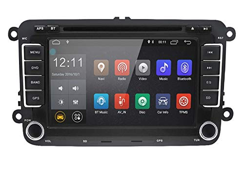 Android Autoradio DVD-Player für VW Passat Golf MK5 MK6 Jetta T5 EOS Polo Touran Seat Sharan | LEXXSON 2 Din 7 Zoll Touchscreen DVD Player Autoradio mit GPS Navigation Bluetooth