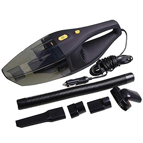 Aspirapolvere con filo, aspirapolvere portatile ad alta potenza da 120 W per auto Aspirapolvere con aspirapolvere bagnato e secco DC12 Volt 4 m Aspiratore per auto migliore, nero