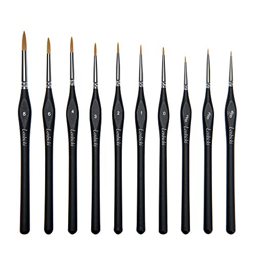 Micro Fine Paint Brushes 10 PCS Detail PaintBrushes Set for Acrylic Warhammer Miniature Models Citadel Watercolour Oil Line Drawing and Paint by Numbers