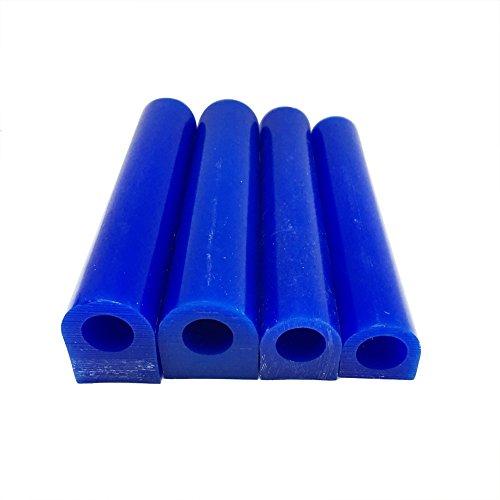 NIUPIKA Schnitzwachs-Ringröhre zum Herstellen von Ringen, Hartwachs, Rohling, Großrohr mit flacher Seite, Blau, Wachs, blau, 4Pack