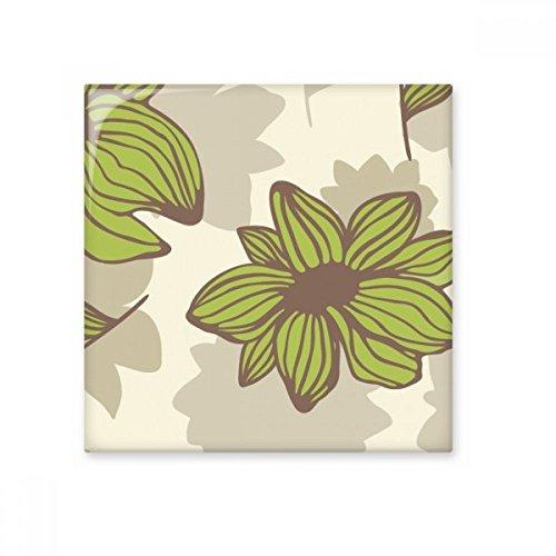 DIYthinker Planta de la flor verde marrón pintura brillante baldosa cerámica de baño Cocina muro de piedra decoración artesanal de regalo