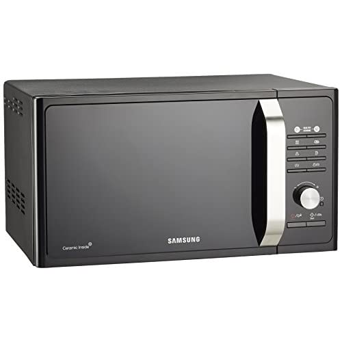 Samsung MG23F302TAK Forno Microonde Grill, 800 W, Grill 1100 W, Healthy Cooking, 23 Litri, Nero/Argento, 40 x 49 x 30 cm