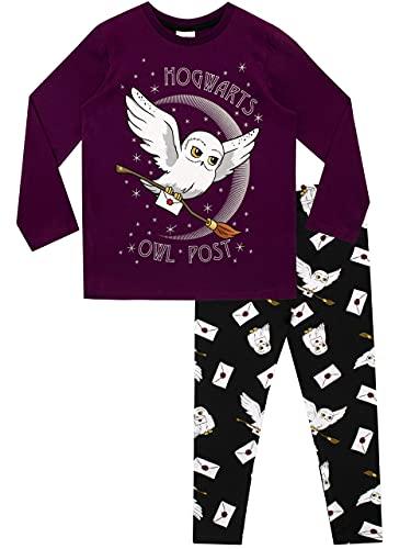 HARRY POTTER Pigiama per Ragazze Hedwig Multicolore 4-5 Anni