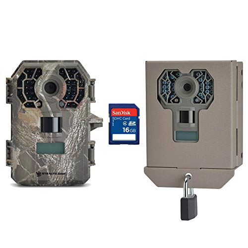 Stealth Cam 10MP HD No Glow Hunting Scouting Game Trail Camera + Case + SD Card
