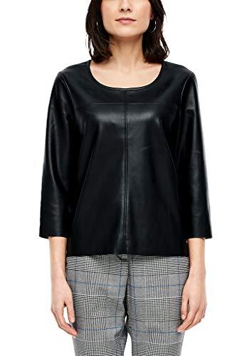 s.Oliver RED Label Damen Leder-Look Bluse Black 42
