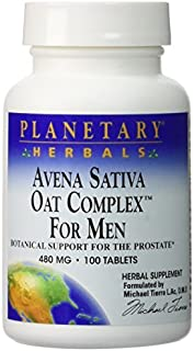 Planetary Herbals - Avena Sativa Oat Complex for Men with Oat Straw Extract 480 mg. - 100 Tablets Formerly Planetary Formulas by Planetary Herbals