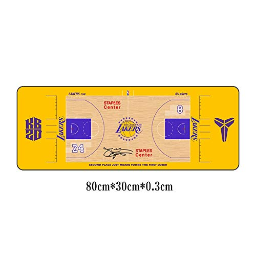 YILONG Kobe Liebe Basketball Illustration übergroße Mauspad Office Keyboard Pad-Tabellenauflage Lakers Jersey Retired 31x11.8x0.11 Zoll (Color : 05)