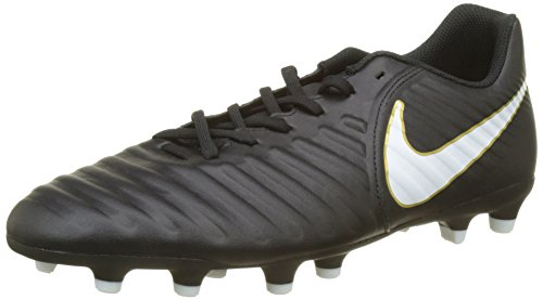 Nike Tiempo Rio IV (FG) Mens Firm-Ground Soccer Cleats (9.5) Black/White