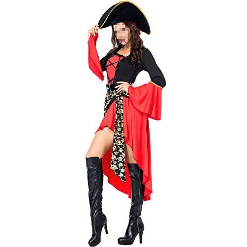 Disfraz Halloween, Carnaval Disfraz Cosplay para Disfraz Halloween Cosplay,Disfraz De Pirata Femenino Disfraz De Halloween Juego Uniforme Traje Cosplay