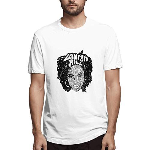 Genertic Lauryn Hill - Maglietta da uomo in cotone, a maniche corte bianco 4XL