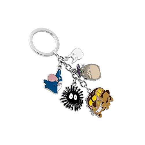 Netter Totoro Keychain Kreative Karikatur Figur Keyring Durable Anime Puppe Legierung Schlüsselanhänger Dekoration