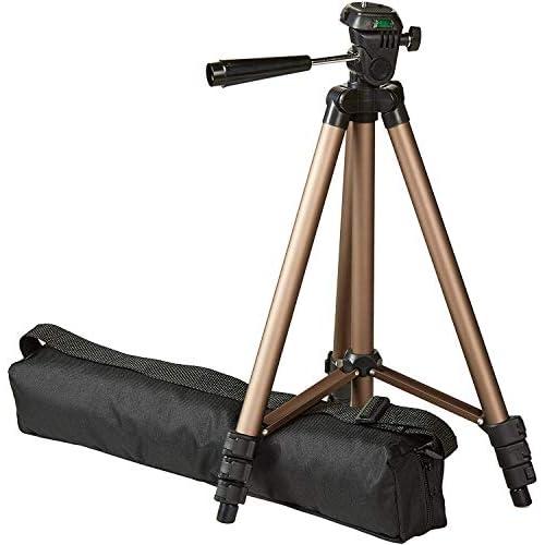 AmazonBasics - Treppiedi leggero per fotocamera, con custodia, da 41,91 a 127 cm