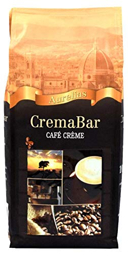 6 Stück a 1 kg Aurelias Café Crème Kaffee Bohnen