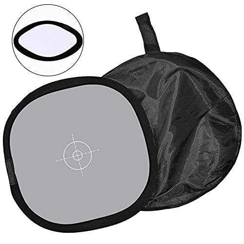 Weißabgleichskarte Grau/Weiß Ausgleich 30CM/12 Zoll,18% Graukarte Weissabgleich PU Leder mit Tragetasche Referenzreflektor-Fokusplatte Doppelseitige Graukarte für die Kamera