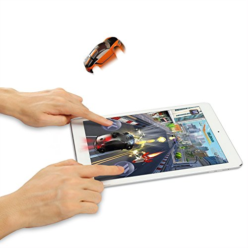 Pocket Racing [Race a Real Car on Your Tablet] 3D Smart Game Toy Racing Car for iPad, Android Tablet with Shining, Vibration, Jumping Feeling and Free Game App