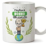 Mugffins Nonno Tazza/Mug - Migliore Nonno del Mondo - Idea Regalo Festa del papà/Tazza Miglior Nonno in Ceramica. 350 ml