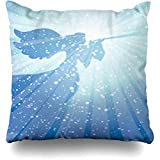 Not Applicable Pillow Cover,Jesus Christmas Herald Angel Nativity Worship Trompeta Alabanza Heaven Christ Fashion Printing Fundas De Colchón 40x40cm