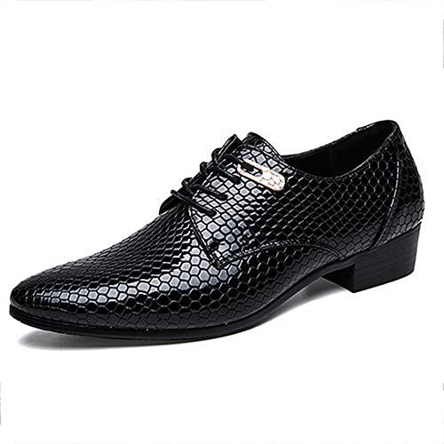 HUDUO Zapatos Cuero Hombres Zapatos Negocios Casuales Uniforme Formal Zapatos De Boda...