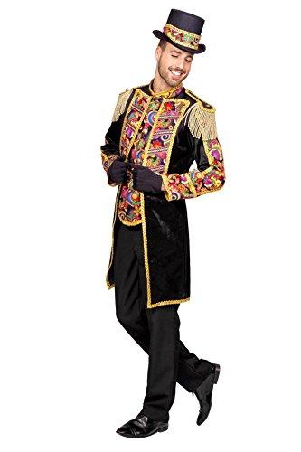 Wilbers Showmantel Mantel Show Tanz Garde Herren Kostüm Karneval Fasching Showkostüm Schwarz/Gold 48