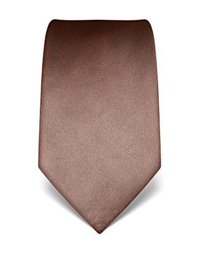 Vincenzo Boretti Corbata de hombre en seda pura, uni marrón