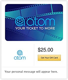 Atom Tickets Gift Cards - Email Delivery
