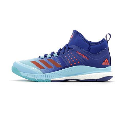 adidas Crazyflight X Mid W, Scarpe da Pallavolo Donna, Multicolore, Blu/Arancione/Azzurro (Tinmis/Narres/Azumis), 37 1/3 EU