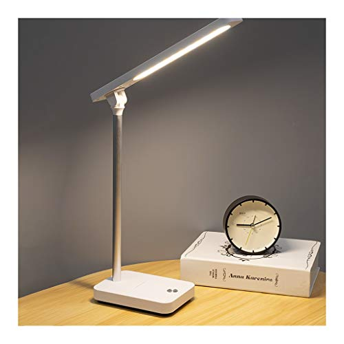 Lámpara de Escritorio Led Escritorio LED de la lámpara de control táctil de recarga lámpara de escritorio de 3 modos de color con regulable sin escalonamiento luz natural Protege Ojos soporte for telé