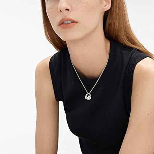"Skagen Agnethe Pearl Silver-Tone Pendant Necklace, 15"" + 1.5"" Extender"