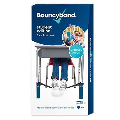 The Original Bouncy Bands for Desks (Blue) - Children Love Bouncing Their Feet and Feeling The Tension to Relieve Their Anxiety, Hyperactivity, Frustration, or Boredom