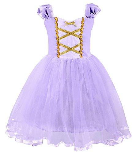 AmzBarley Prinsessin Rapunzel kostuum kinderen meisjes tutu gekke jurk jurk kleding Halloween Cosplay kleding verjaardag feestje carnaval ceremonie bruiloft avondjurk