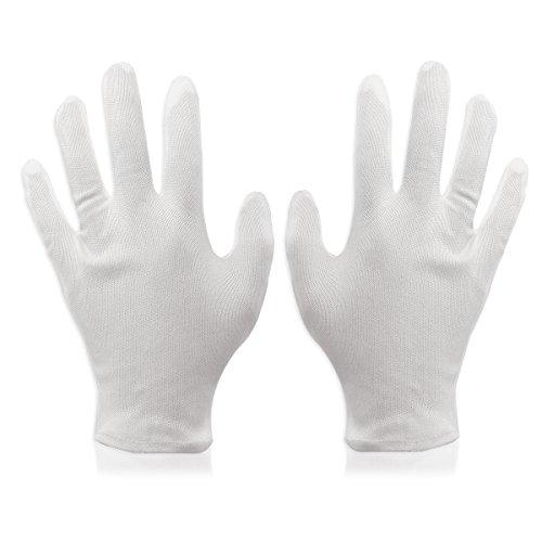 FOXNOVO Lot de 8 paires de gants en coton doux et léger