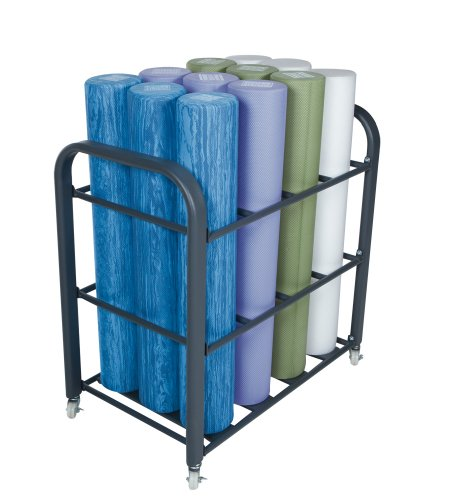 Power Systems Studio Foam Roller Cart, Holds up to 12 6-Inch Diameter Foam Rollers, Gray (80186)