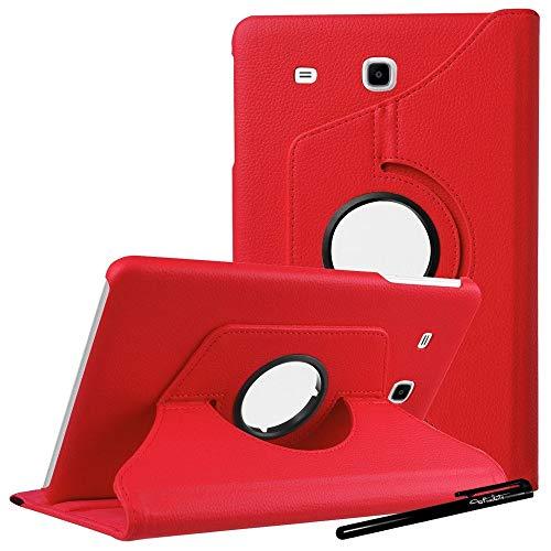 ToProducts - Funda con Tapa para Samsung Galaxy Tab A6 de 7,0 Pulgadas, SM-T280 y T285, Color Rojo