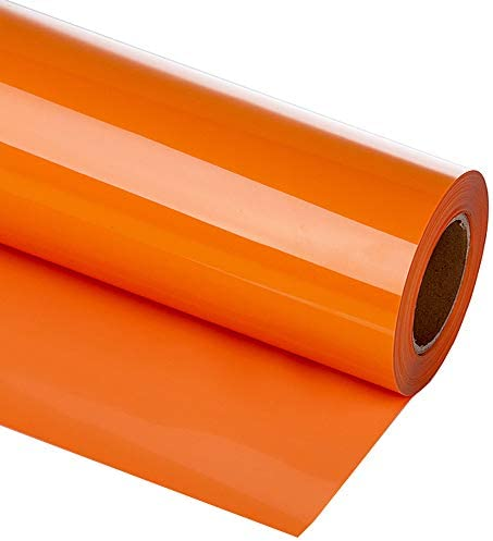 guangyintong Heat Transfer Vinyl Roll for T Shirts 12 x 12ft Matte Orange A7 product image