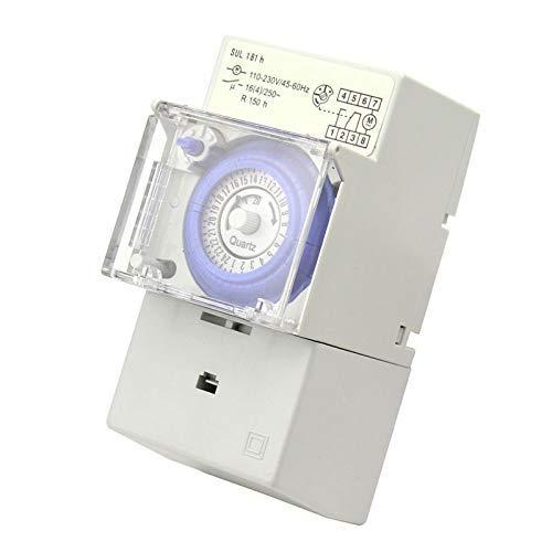 Temporizador mecánico SUL181H, relé de interruptor de tiempo de 24 horas, temporizador...