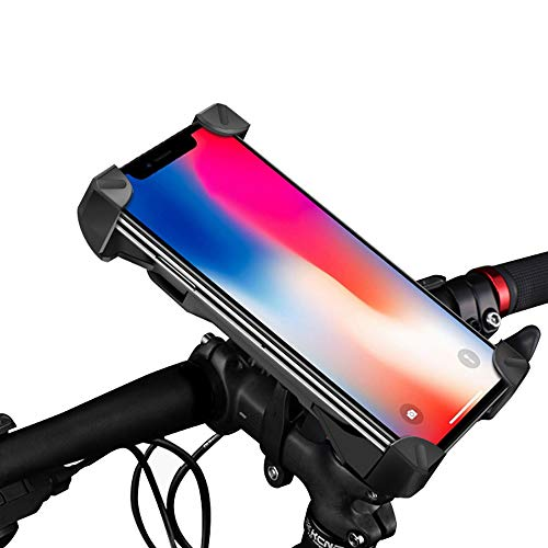 Learn More About Bike Phone Mount,Bicycle Phone Holder with 360° Rotation,Universal Adjustable Joint Locking Knob,Bike Accessories for Phone 4 to 7 inches.Black