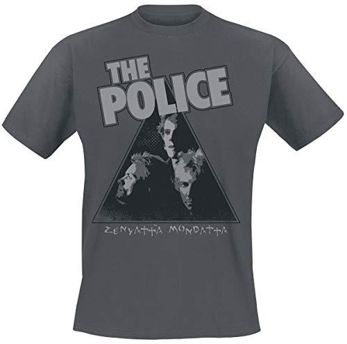 The Police Zenyatta Hombre Camiseta Gris Marengo L, 100% algodón, Regular