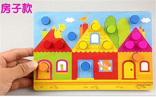 Puzzle Jigsaw Cartoon dier educatieve houten kralen geometrie digitale klok puzzels gadgets geschikt voor kinderspeelgoed