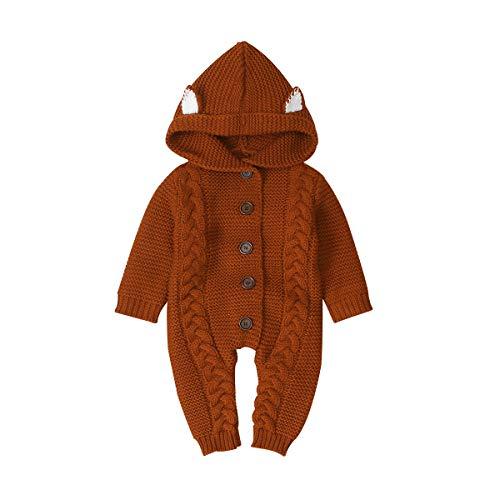non Nouveau-Né Bébé Combinaison Enfant en Bas Âge Infantile à Manches Longues Tricots à Capuche Swaddle Sleepsuits Barboteuses pour 3-24 Mois Fille Garçons (100)