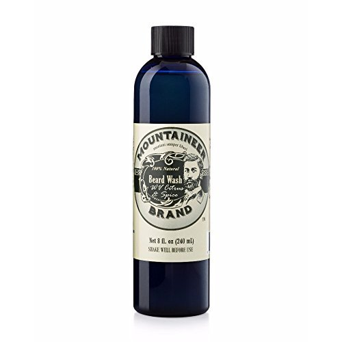 Beard Wash by Mountaineer Brand (8oz)   WV Citrus & Spice Scent   Premium 100% Natural Beard Shampoo