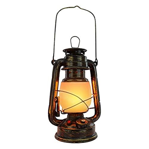 Wuawtyli Linterna para Exteriores, Linterna de tormenta LED Retro Recargable por USB, Llama Intermitente, lámpara de araña IPX4 Impermeable para Acampar, jardín, Patio, Patio, Porche, luz