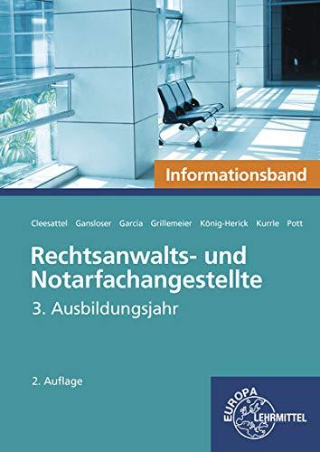 Rechtsanwalts- und Notarfachangestellte, Informationsband: 3. Ausbildungsjahr