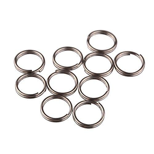 TI-EDC Split Rings Titanium Small Key Rings Pack of 10 (14mm)