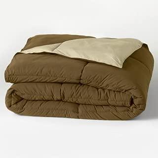 Home Classics Down Alternative Reversable Comforter (Brown/Tan, Full/Queen)