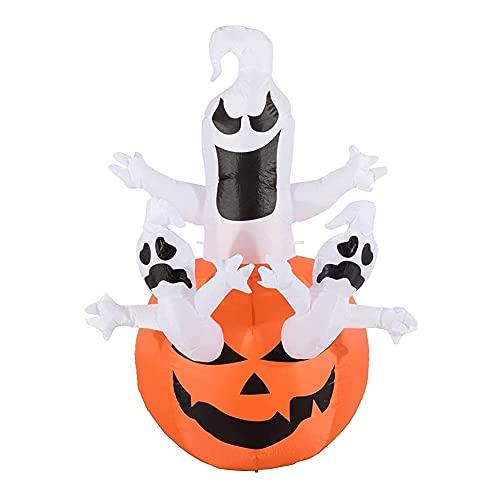 Inflables de Halloween del fantasma fantasmas decoración al aire libre crecen desde Blow La calabaza Hasta decoración de vacaciones con DIRIGIÓ Luces empotradas en el patio de la fiesta de jardín