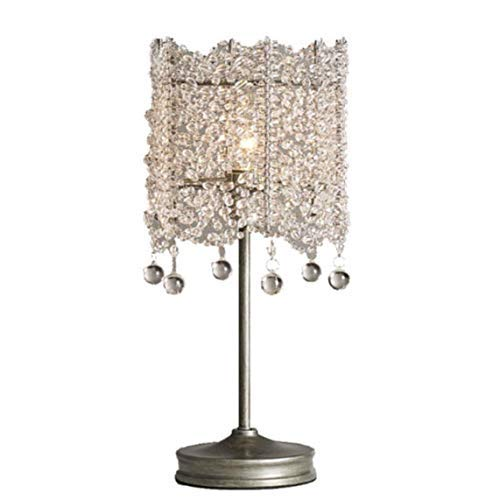 Lámpara de Mesa Luz Lámparas de Escritorio Luces Lámpara de Mesa Americana Luz de Estilo francés Lámpara de Mesa Decorativa Retro de Lujo Princesa Lámpara de Noche de Dormitorio cálido Lámpara de